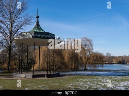 Bandstand by the lake in Regents Park, London UK - Stock Image