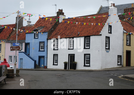 House front in the Fife fishing village of St Monans - Stock Image
