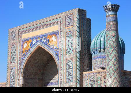 The Registan, Samarkand, Samarqand Province, Uzbekistan - Stock Image