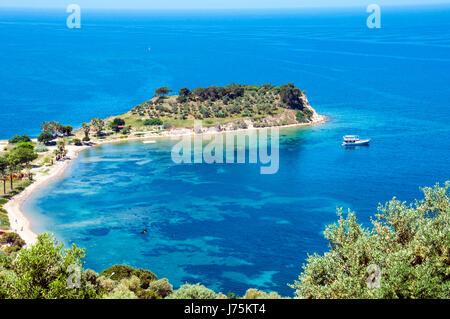 Kusadasi, bird island on the turkish coast of the mediterranean sea - Stock Image