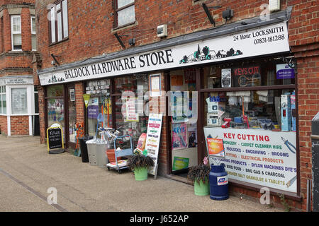 Baldock Hardware Store shop outside display, Hertfordshire England UK - Stock Image