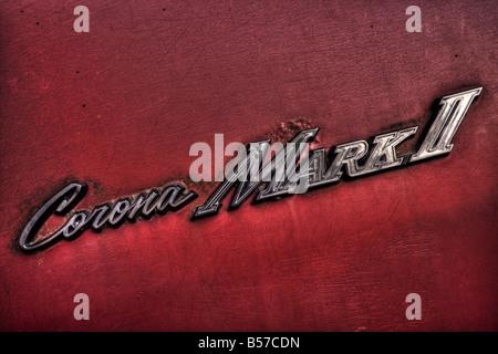 Toyota Corona Mark II logo - Stock Image