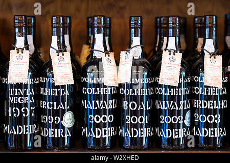 Portugal, Madeira Island, traditional wine - Stock Image