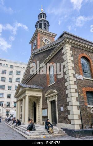 St Peter, Vere Street in Marylebone. - Stock Image