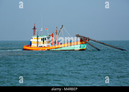 Fishing boats in the Gulf of Thailand - Stock Image