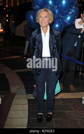 Company - opening VIP night at the Gielgud Theatre, Shaftesbury Avenue, London  Featuring: Mary Berry Where: London, United Kingdom When: 17 Oct 2018 Credit: WENN.com - Stock Image