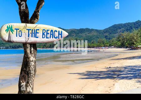 Kamala beach on a beautiful, sunny day - Stock Image