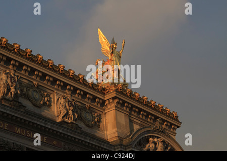Opera Garnier, Paris, France. Detail of the south facade - Stock Image