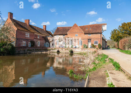 flatford mill national trust east anglia - Stock Image