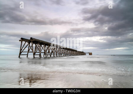 The Disused Steetley Pier, Hartlepool, County Durham, UK. - Stock Image