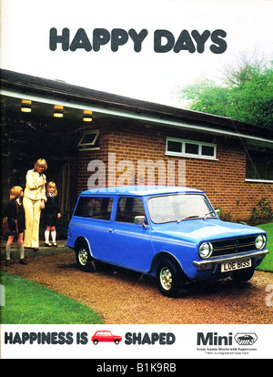 Advertisement for an Austin Morris Mini Motor Car 1978 FOR EDITORIAL USE ONLY - Stock Image