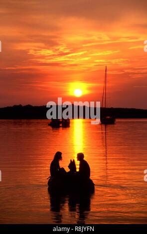 Marina Sunset, Dugi Otok, Croatia - Stock Image