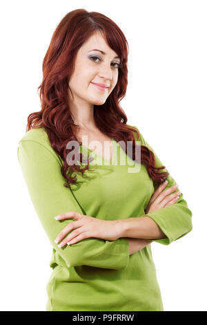 Stock image of casual woman isolated on white background - Stock Image