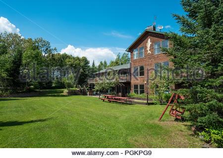 Skyport Lodge on Devil Track Lake, Grand Marais, Minnesota, USA - Stock Image