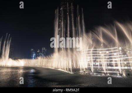 Dancing Fountain in Dubai, United Arab Emirates. - Stock Image