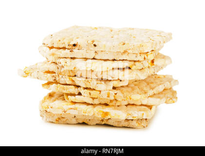 Rice diet breads isolated on white background - Stock Image