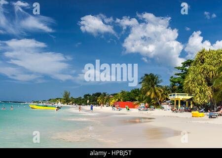 Jamaica Negril beach , West Indies, carribean island - Stock Image