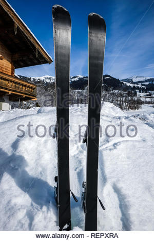 ready for skiing - Stock Image