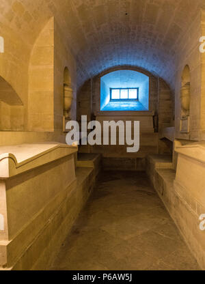 France, Paris 5th district, Pantheon, tombstones of Victor Hugo and Alexandre Dumas - Stock Image
