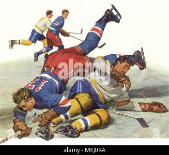 Ice Hockey Players - Stock Image