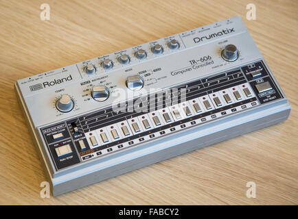A Roland 606 drum machine - Stock Image