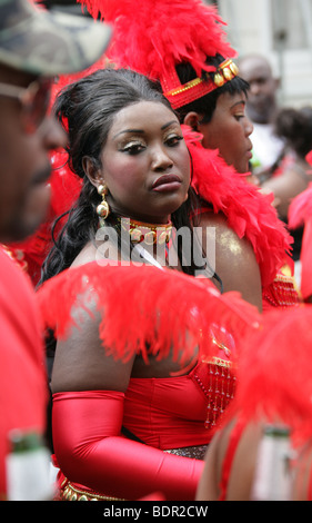 Caribbean Girl at the Notting Hill Carnival 2009 - Stock Image