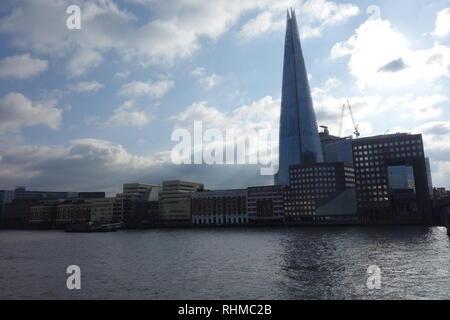 The Shard & River Thames, London, UK - Stock Image