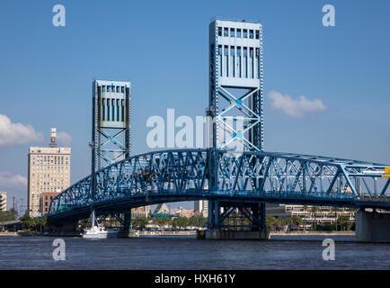 Jacksonville Main Street Bridge, Florida, USA - Stock Image