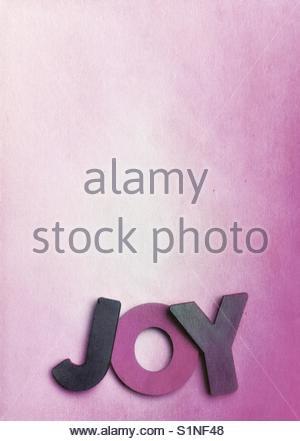 joy (word) - Stock Image