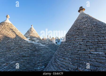 Trulli Houses; Alberobello; Apulia; Puglia; Italy - Stock Image