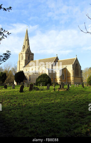 St Peter's Church, Deene, Northamptonshire - Stock Image