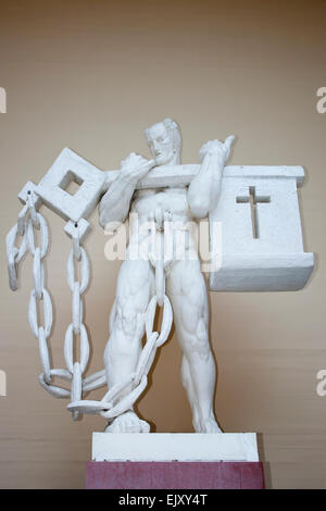 A sculpture inside the Rudolph Tegner museum in Dronningmoelle Denmark - Stock Image