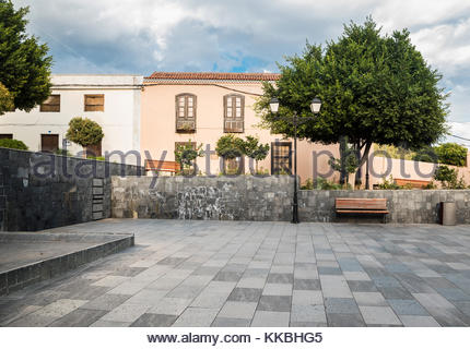 A plaza in the village of VIlaflor,  Tenerife, Canary Islands, Spain - Stock Image