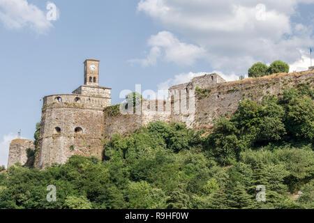 Gjirokasta, Castle from the old town Albania - Stock Image