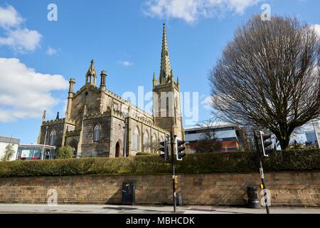 Angle shot of Christ Central Preston Church seen from Fylde Street in Preston, UK. - Stock Image
