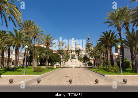 Cartagena Murcia Spain view of the monument of heroes de cavite - Stock Image
