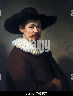 Herman Doomer (1595–1650), portrait painting by Rembrandt, 1640 - Stock Image