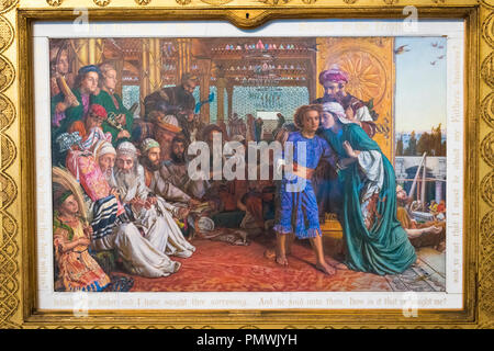 Liverpool Mossley Hill Sudley House built 1821 The Finding of the Saviour in the Temple by William Holman Hunt 1865 oil on canvas Pre-Raphelite - Stock Image