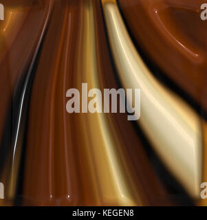 melted chocolate closeup - Stock Image