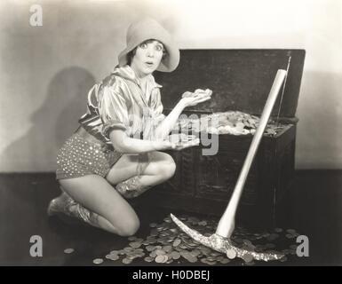 Gold digger - Stock Image