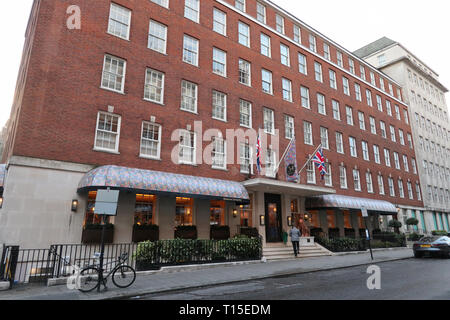 34 Mayfair (British game meat restaurant) on South Audley Street, Mayfair, London, England, UK - Stock Image