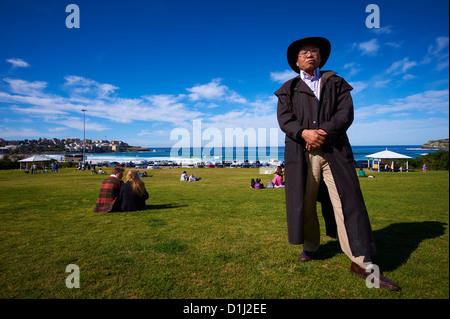 Chinese tourist at Bondi Beach Australia - Stock Image