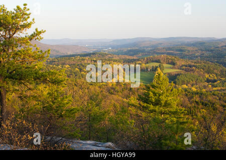 The view south from Black Mountain in Dummerston Vermont USA - Stock Image