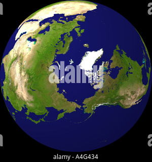 globe North Pole - Stock Image