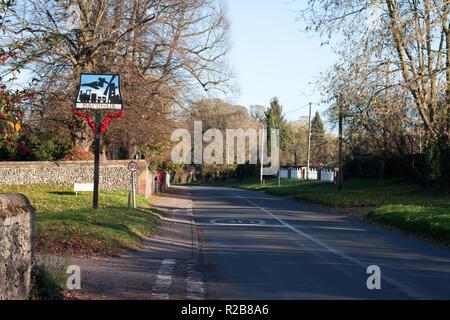 Views of the village on Barnham, Suffolk - Stock Image