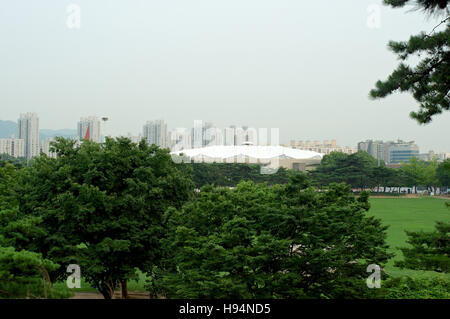Olympic park in Seoul in summer in South Korea - Stock Image