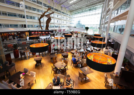 Interior restaurants and  bars ; the Hilton Hotel Heathrow airport London UK - Stock Image