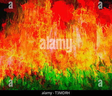 DIGITAL ART: Inferno 2032 - Stock Image