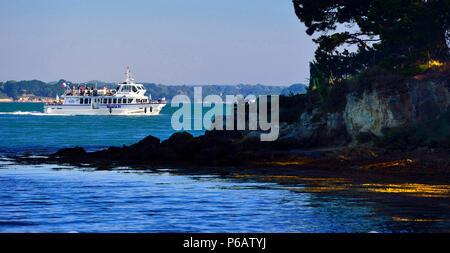 Europe France shuttle boat in the Gulf of Morbiha - Stock Image