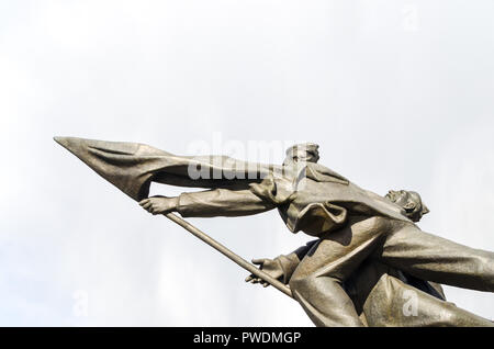 The monument to the fighters of 1905 in Riga, Latvia - Stock Image